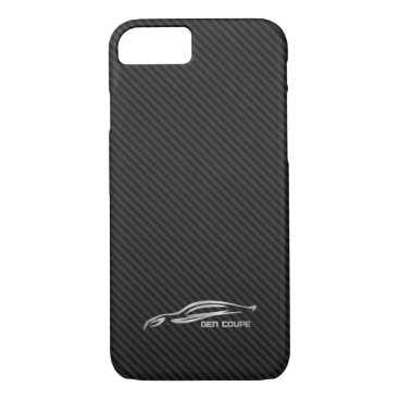 Hyundai Genesis Coupe - Silver on Faux Carbon iPhone 7 Case