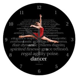 I Am A Dancer Large Clock