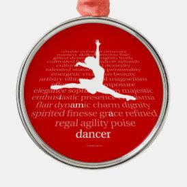 I Am A Dancer Metal Ornament