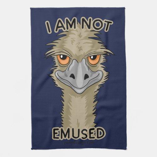 I Am Not Emused Funny Emu Pun Kitchen Towel