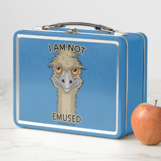 I Am Not Emused Funny Emu Pun Metal Lunch Box