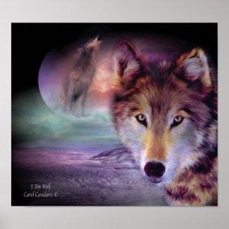 I Am Wolf Art Poster/Print