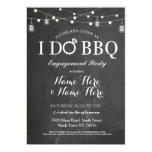 ❤️ Simple Black & White With String Lights I Do BBQ Invitation