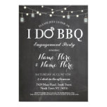Simple Black & White With String Lights I Do BBQ Invitation