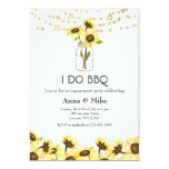 Simple Sunflowers & String Lights I Do BBQ Invitation