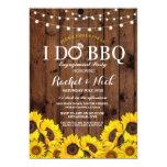 Pretty Rustic Sunflowers I Do BBQ Invitation