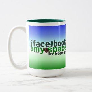 I Face the Book for Myspace mug