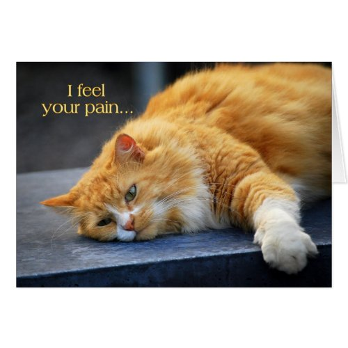 I Feel Your Pain -- Feel Purr-fect Soon Orange Cat Greeting Card