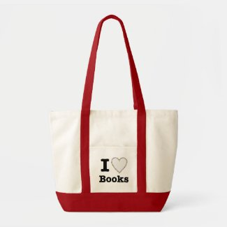I Heart Books - I Love Books! Colorful Swirls Bag
