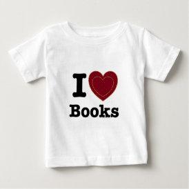 I Heart Books - I Love Books! (Double Heart) Baby T-Shirt