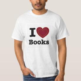 I Heart Books - I Love Books! (Double Heart) T-Shirt