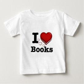 I Heart Books! I Love Books! (Shadowed Heart) Baby T-Shirt