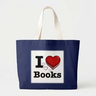 I Heart Books! I Love Books! (Shadowed Heart) Tote Bag