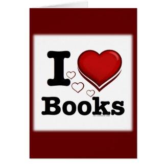 I Heart Books! I Love Books! (Shadowed Heart) Greeting Cards