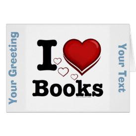 I Heart Books! I Love Books! (Shadowed Heart) Card