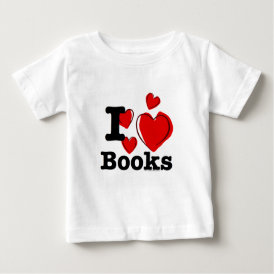 I Heart Books! I Love Books! (Sketchy Heart) Baby T-Shirt