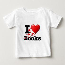 I Heart Books! I Love Books! (Trail of Hearts) Baby T-Shirt