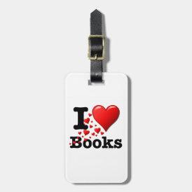 I Heart Books! I Love Books! (Trail of Hearts) Bag Tag