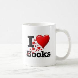 I Heart Books! I Love Books! (Trail of Hearts) Coffee Mug