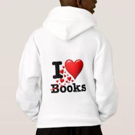 I Heart Books! I Love Books! (Trail of Hearts) Hoodie