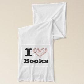 I Heart Books - I Love Books! (Word Heart) Scarf