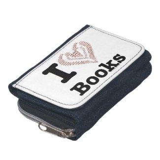 I Heart Books - I Love Books! (Word Heart) Wallet