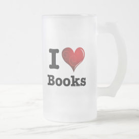 I heart books Swirly Curlique Heart 02 FADE 4000x4 Frosted Glass Beer Mug
