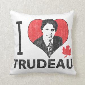 I Heart Trudeau Throw Pillows