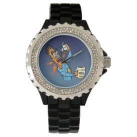 I Like Big Mugs! - Java Junkie Guy! Wrist Watch