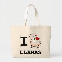 I Llama Llamas Large Tote Bag