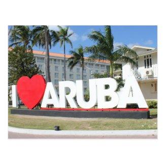 I love Aruba - One happy Island Post Card