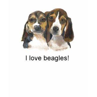 I love Beagles T-shirt shirt