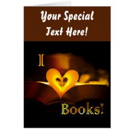 I Love Books - I 'Heart' Books (Candlelight) Card