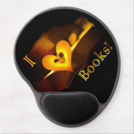 I Love Books - I 'Heart' Books (Candlelight) Gel Mouse Pad