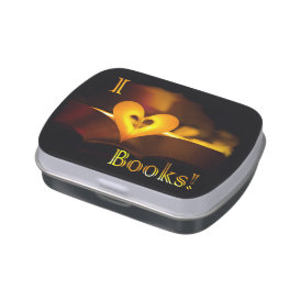 I Love Books - I 'Heart' Books (Candlelight) Jelly Belly Tin