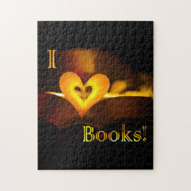 I Love Books - I 'Heart' Books (Candlelight) Jigsaw Puzzle
