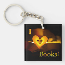 I Love Books - I 'Heart' Books (Candlelight) Keychain