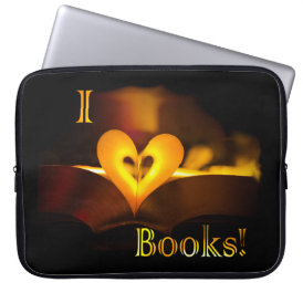 I Love Books - I 'Heart' Books (Candlelight) Laptop Sleeve
