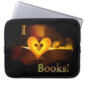 I Love Books - I 'Heart' Books (Candlelight) Laptop Sleeve