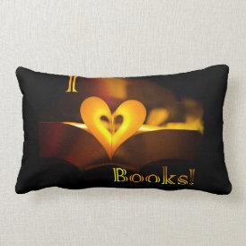 I Love Books - I 'Heart' Books (Candlelight) Lumbar Pillow