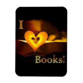 I Love Books - I 'Heart' Books (Candlelight) Magnet