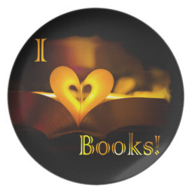 I Love Books - I 'Heart' Books (Candlelight) Plate