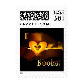 I Love Books - I 'Heart' Books (Candlelight) Postage