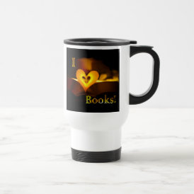 I Love Books - I 'Heart' Books (Candlelight) Travel Mug