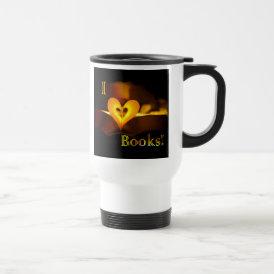 I Love Books - I 'Heart' Books (Candlelight) Travel Mug