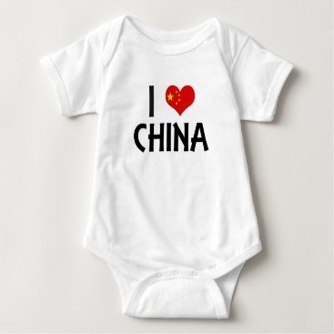 I Love China Baby Bodysuit