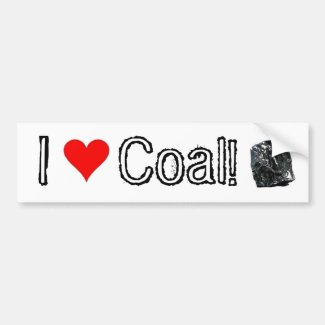 I Love Coal! - Coal supporter bumper sticker