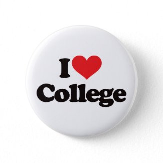 I love College button