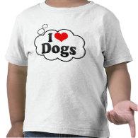I love Dogs Tee Shirt