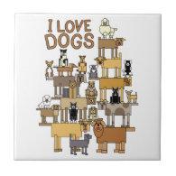 I LOVE DOGS TILES